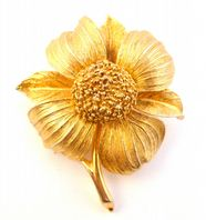 Vintage Large Floral Brooch By Jewelcraft.